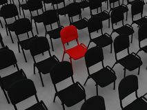 Chair. Illustration many numbers chair on a white background Royalty Free Stock Images