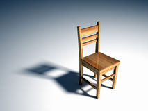 Chair. Single chair - this is a 3d render illustration Stock Image