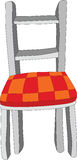 Chair. Old chair with a checkered upholstery Stock Photo