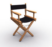 Chair. Director chair on white - this is a 3d render illustration Royalty Free Stock Photography