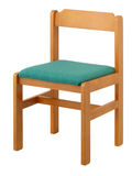 Chair. Wooden chair for child on white background Stock Images