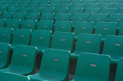 Chair. Stadium chairs neatly lined with beautiful Royalty Free Stock Photo