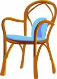 Chair. Wooden chair, soft comfortable furniture Stock Photography
