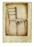 The chair. Mixed media retro picture with hand drawing chair Royalty Free Stock Images