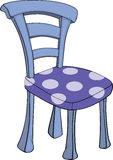 Chair. Wooden chair with a violet upholstery in peas Stock Photos