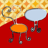 Chair. A vector, illustration for a set of artistic table and chair for house Royalty Free Stock Photography