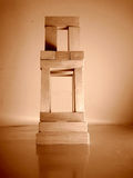 Chair. A chair made with wooden block, metaphor step for wealth and power, leadership Stock Photo