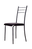 The chair. Black metal chair on a white background Royalty Free Stock Images