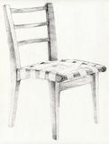 The chair. Hand drawing picture with home object - chair Royalty Free Stock Images