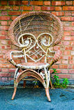 Chair. Armchair near wall in london Stock Images