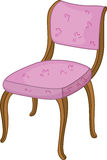 Chair. An illustration of a wooden chair with pink upholstery Stock Photography