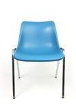 Chair. Chrome legged plastic moulded chair stock photos