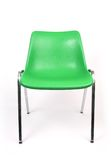 Chair. Chrome legged plastic moulded chair stock photography