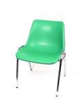 Chair. A green chrome legged chair royalty free stock image