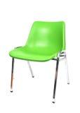 Chair. A green plastic chrome legged chair stock images
