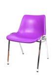 Chair. A purple plastic chrome legged chair royalty free stock photos