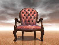 Chair. Digital rendering of a chair Stock Photos