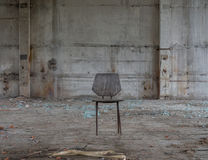 Chair in Abandoned building. Photo taken in August in Karelia royalty free stock images