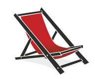 Chair. Abstract illustration of an old-fashioned beach chair royalty free illustration
