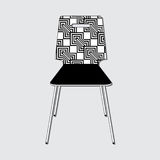 Chair with abstract pattern. Chair with an example of a pattern on a gray background vector illustration