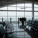 Chair and airport Royalty Free Stock Photos