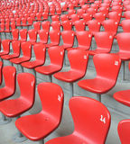 Chair array. Red chairs with number array in stadium royalty free stock images
