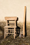 Chair and a axe Royalty Free Stock Photo