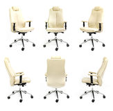 Chair back front side white background collection. Chair back front side armchair white collection black isolated business new studio seat luxury decor collage Stock Photos