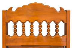 Chair back wood carving. Royalty Free Stock Photo