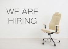 Chair background concept - recruitment hire hiring interview Royalty Free Stock Photos