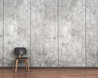 Chair on the background of a concrete wall. 3d illustration royalty free illustration