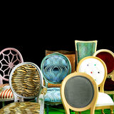 Chair backs. Various chair backs all shapes and colors Stock Image
