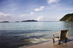 Chair on beach. Bamboo chair on beach ko chang, thailand Royalty Free Stock Photo