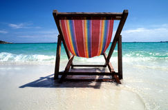 Chair at the beach Royalty Free Stock Image