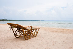 Chair on the beach. Koh Mak Sea View Thailand Royalty Free Stock Images