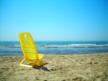 Chair on the beach. At summer holidays Royalty Free Stock Image