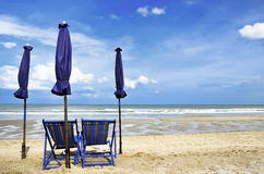 Chair on the beach Royalty Free Stock Photos
