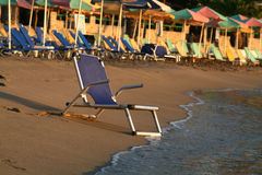 Chair on a beach Stock Image