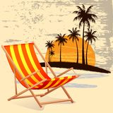 Chair on Beach Royalty Free Stock Photography