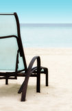 Chair on the Beach. Empty Relaxing Chair on a Tropical Beach stock image