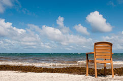 Chair at the beach Stock Photography