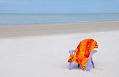 Chair on the Beach Royalty Free Stock Images