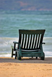 Chair on the beach. With view to the sea Stock Photo