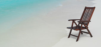 Chair on the beach. On the sand Royalty Free Stock Photos