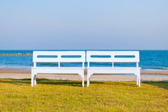 Chair on beach. Royalty Free Stock Photography