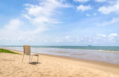 Chair on the beach Stock Photography