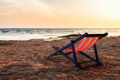 Chair on beach Stock Photo