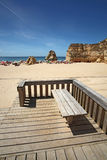 Chair on the beach, rocha, Stock Image