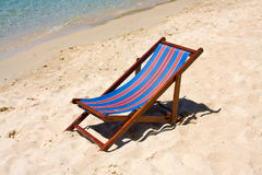 Chair on the beach Royalty Free Stock Photo
