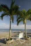 Chair by the beach tropical Stock Photos